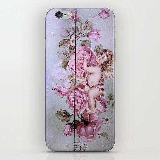 Angel Rose woodpanel iPhone & iPod Skin