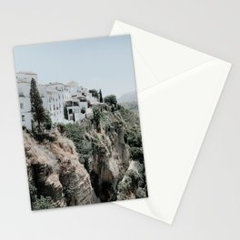 Ronda Andalusia Photo   Andalusia Photography   Ronda Houses On Rocks Stationery Cards