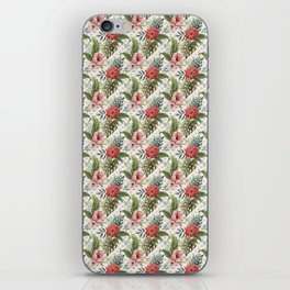 Tropical Flower and Leaves Be like a Pineapple Quote iPhone Skin