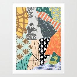 Fashion Retro Art Pattern  Art Print