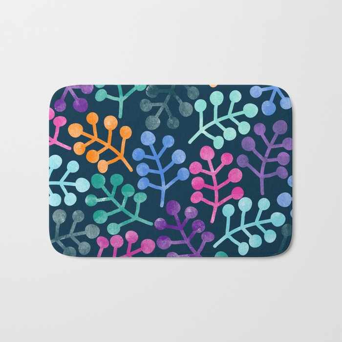 Colorful Leaves XII Bath Mat