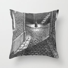 Streets crossing Throw Pillow
