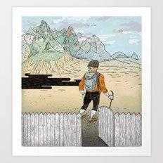 Backyard Adventure Art Print