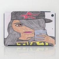 swag iPad Cases featuring CAUTION SWAG by jillian hill