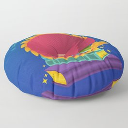 A Dragon Protects His Treasure blue version Floor Pillow