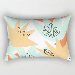 Terra Cotta and Teal Geometry Rectangular Pillow