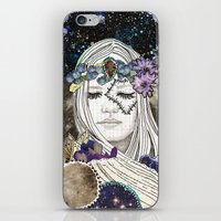 luna iPhone & iPod Skins featuring Luna by Jenndalyn