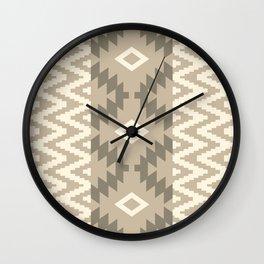 Ion in Tan Wall Clock