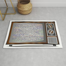Old Television Static Rug