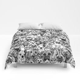 christmas dogs Comforters