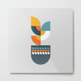 Geometric Plant 01 Metal Print