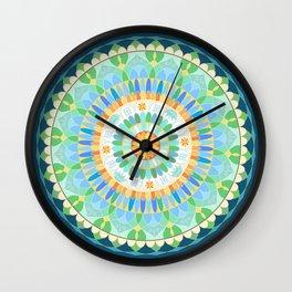 Mandala en azules Wall Clock