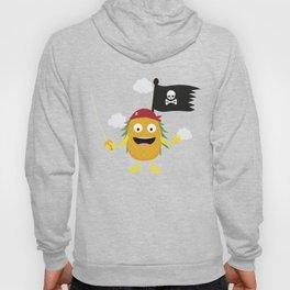 Pineapple Pirate with Flag T-Shirt Dyrdv Hoody