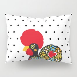 Famous Rooster of Barcelos 01 | Lucky Charm & Polka Dots Pillow Sham