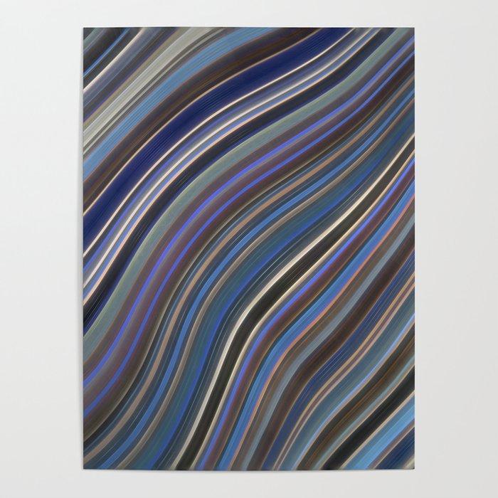Mild Wavy Lines IV Poster