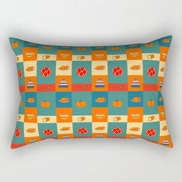 Dinner pattern Rectangular Pillow