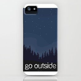 Go Outside Night Sky iPhone Case