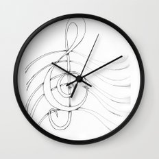 Clef Point Wall Clock