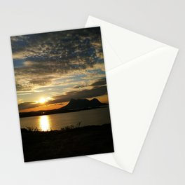 Sunset in Steigen Stationery Cards
