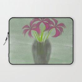 Pink Lilies in Vase Laptop Sleeve
