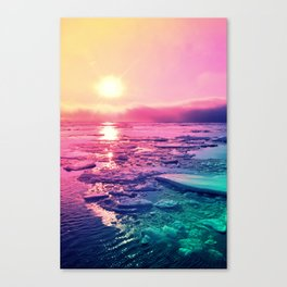 Pastel Sunset Waters Canvas Print