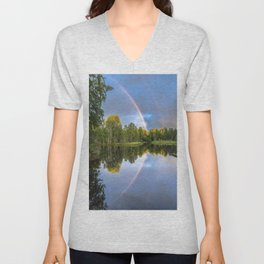 Rainbows: The gift from heaven to us all Unisex V-Neck