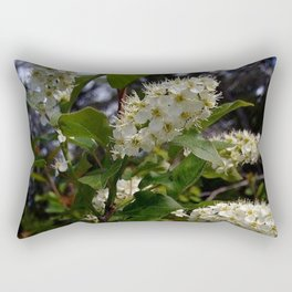 White Cluster Blossoms Rectangular Pillow