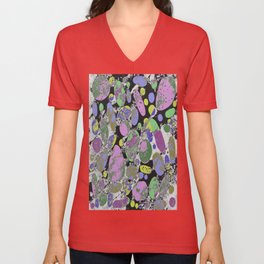 Crazy Paving - Abstract, textured, pastel coloured artwork Unisex V-Neck