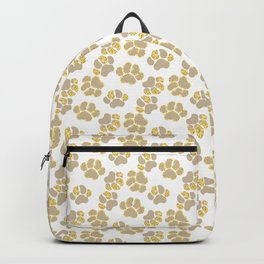 Cute golden paws in pastel colors Backpack