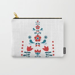 Retro Nordic Folk Carry-All Pouch
