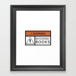WARNING: Books Framed Art Print