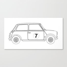 Compact Saloon Outline Drawing Canvas Print