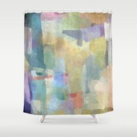 pastel Shower Curtains featuring pastel by munich