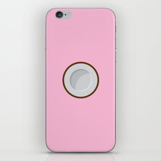 Coconut print iPhone & iPod Skin