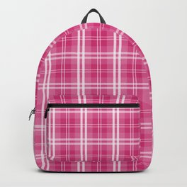 Spring 2017 Designer Color Spring Yarrow Tartan Plaid Check Backpack