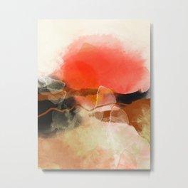 peachy sun Metal Print