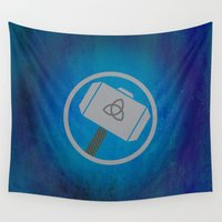 thor Wall Tapestries featuring Thor by Some_Designs