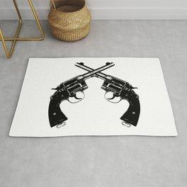 Crossed Revolvers Rug