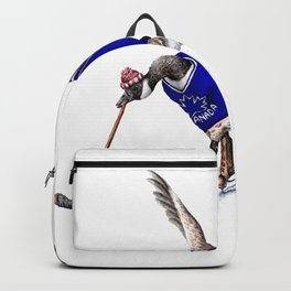 Canada Goose Playing Hockey Backpack