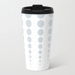 Up and down polka dot pattern in white and a pale icy gray Travel Mug