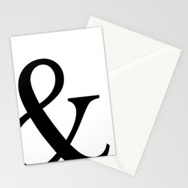 Typography, Ampersand, And Sign Stationery Cards