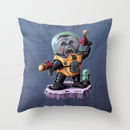 Space Orangutan Throw Pillow