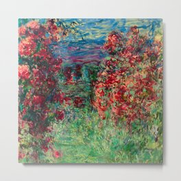 "Claude Monet ""House among the Roses"", 1925 Metal Print"
