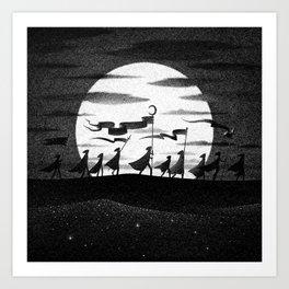 Drawlloween 2015: Moon Art Print