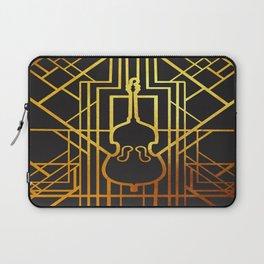 Art Deco Contrabass Laptop Sleeve