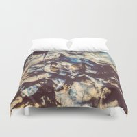 agate Duvet Covers featuring Agate Crystals  by Elena Kulikova