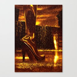 Shiny Boots of Leather Canvas Print