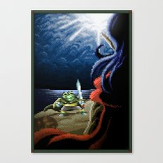 Pixel Art series 2 : Fight on the cliff Canvas Print