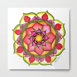 Watercolor Mandala #7 - Original Metal Print