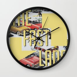 The fast lane Wall Clock